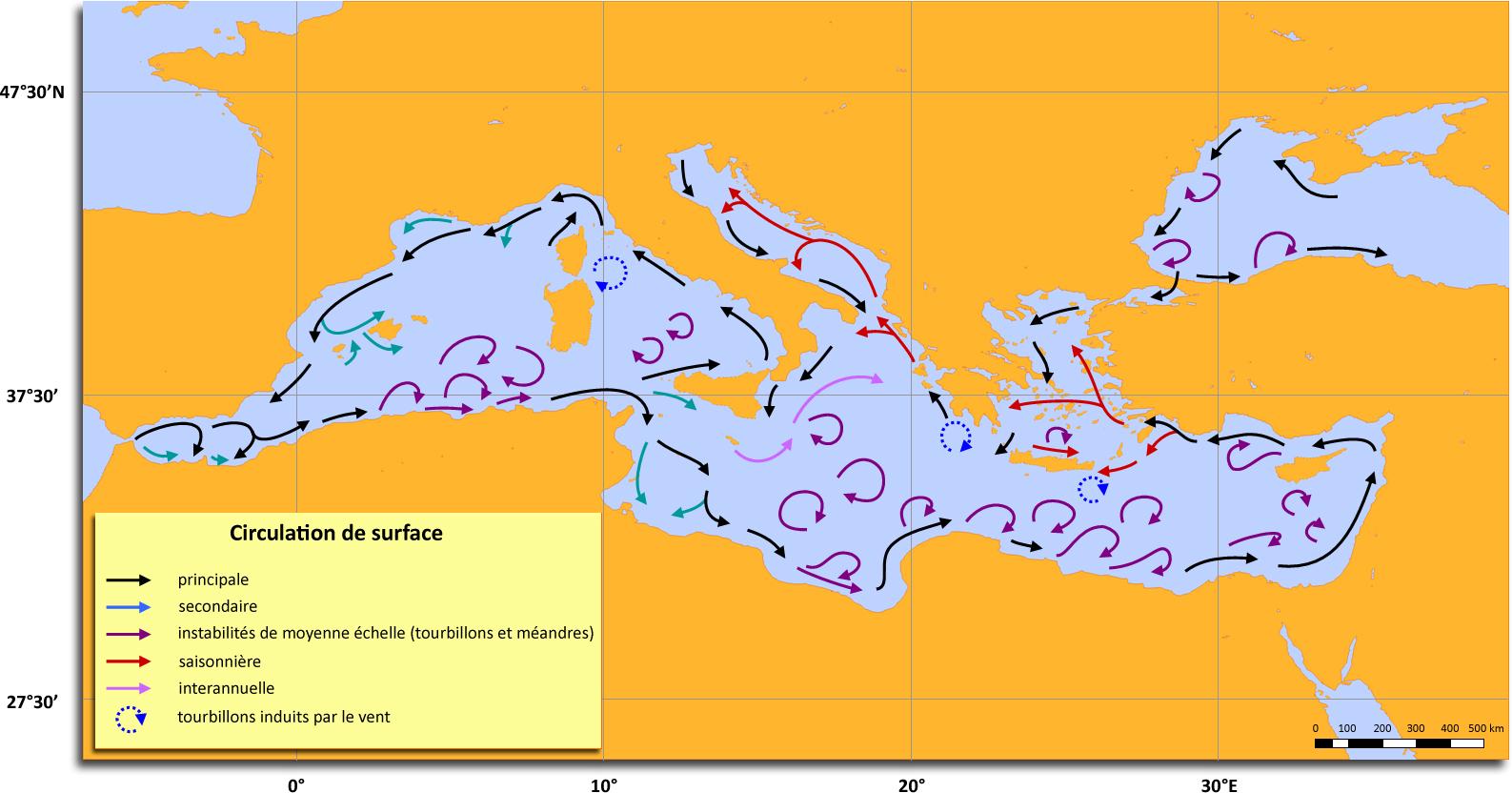 Connaitre la mer et les navires - chroniques et actu Carte_courants